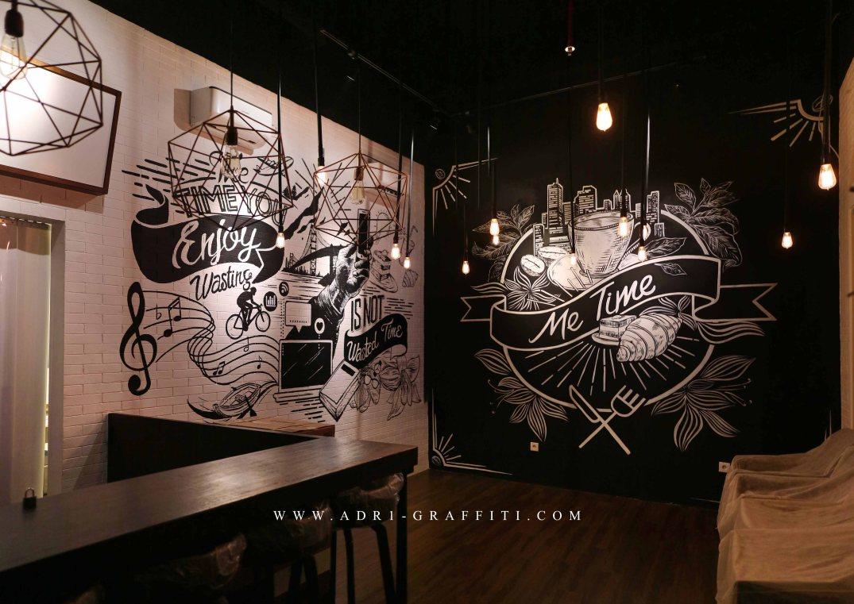 Adr1 graffiti mural surabaya for Mural untuk cafe